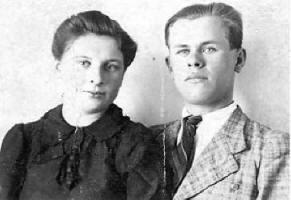 Zamordowani przez ludobójców zOUN-UPA podczas napadu wnocy z2/3 kwietnia 1944 r. Ludwik Stodolny lat 23 wraz zżoną.